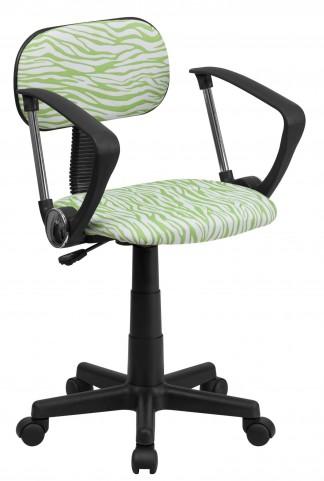 1000539 Zebra Print Computer Arm Chair