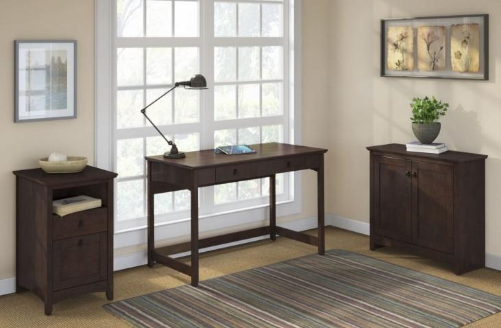 Buena Vista Madison Cherry Writing Desk W/Low Storage & 2Drwr Pedestal
