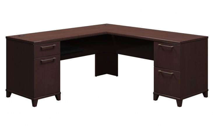 Enterprise Mocha Cherry 72 Inch L Desk
