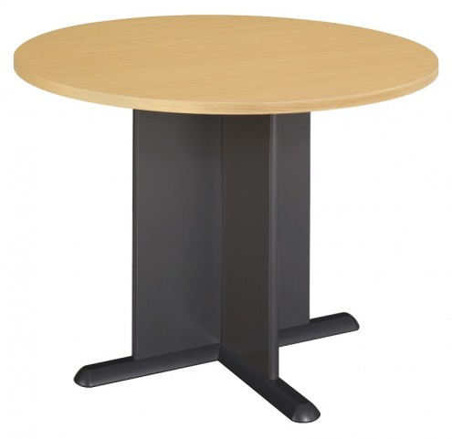 Series A Beech 42 Inch Round Conference Table