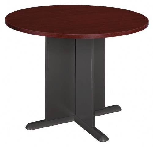Series A Mahogany 42 Inch Round Conference Table