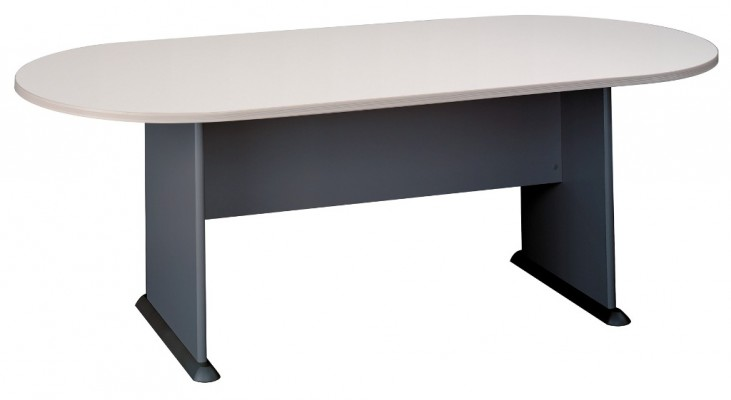 Series A Pewter 82 Inch Racetrack Conference Table