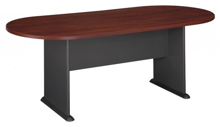 Series A Hansen Cherry 82 Inch Racetrack Conference Table