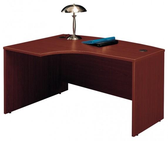 Series C Mahogany 60 Inch LH L-Bow Desk Shell