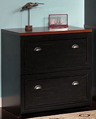Fairview Antique Black Lateral File