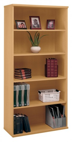 Series C Light Oak 36 Inch 5-Shelf Bookcase