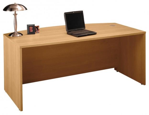 Series C Light Oak 72 Inch Bow Front Desk Shell