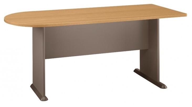 Series A Light Oak 72 Inch Universal Freestanding Peninsula
