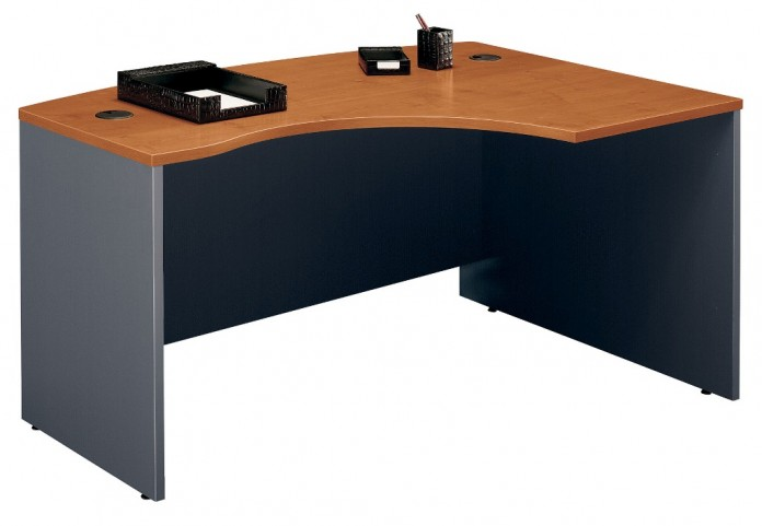 Series C Natural Cherry 60 Inch RH L-Bow Desk Shell