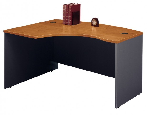 Series C Natural Cherry 60 Inch LH L-Bow Desk Shell