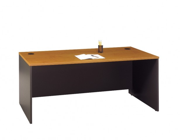 Series C Natural Cherry 72 Inch Desk Shell