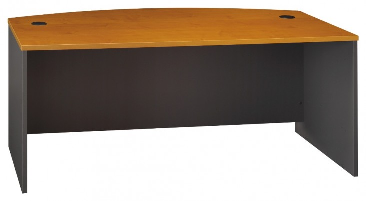Series C Natural Cherry 72 Inch Bow Front Desk Shell