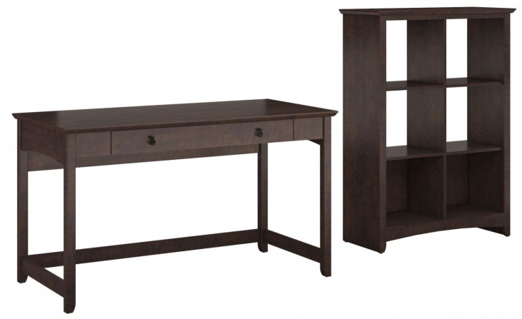 Buena Vista Madison Cherry Writing Desk With 6 Cube Storage
