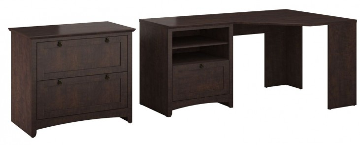 Buena Vista Madison Cherry Corner Desk With Lateral File