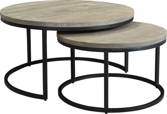 LOOKS GREAT WITH. Image Of Item Drey Grey Round Nesting Coffee Tables ...