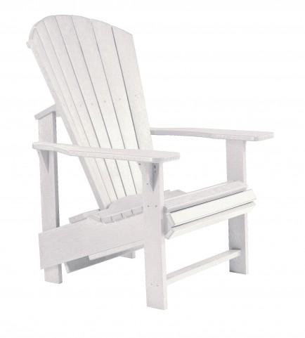 Generations White Upright Adirondack Chair