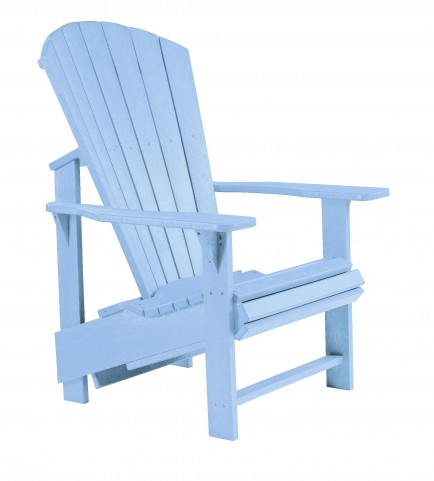 Generations Sky Blue Upright Adirondack Chair