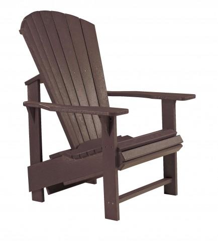 Generations Chocolate Upright Adirondack Chair
