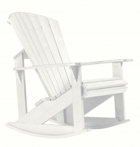 Generations White Adirondack Rocking Chair