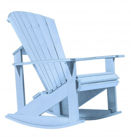 Generations Sky Blue Adirondack Rocking Chair