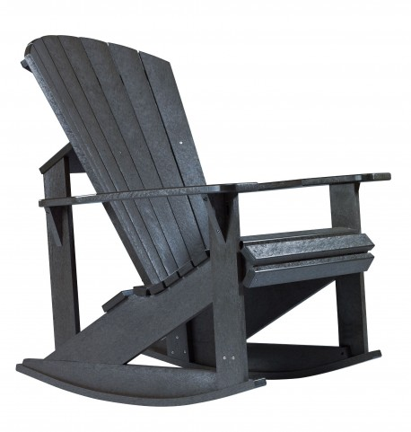 Generations Black Adirondack Rocking Chair
