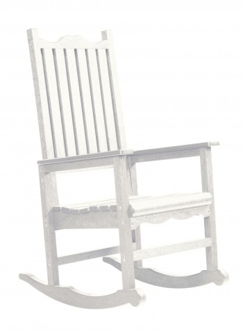 Generations White Casual Porch Rocker