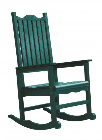Generations Green Casual Porch Rocker