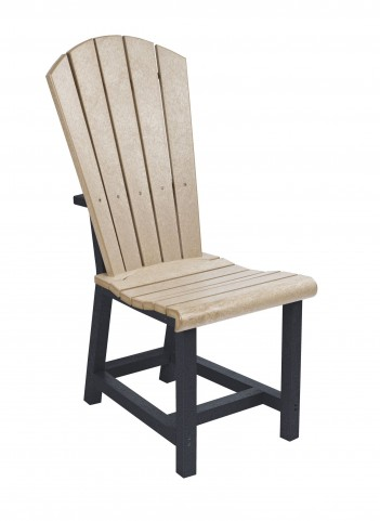 Generations Beige/Black Adirondack Dining Side Chair