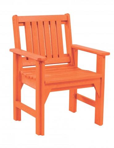Generations Orange Slat Back Dining Arm Chair