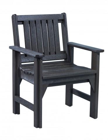 Generations Black Slat Back Dining Arm Chair