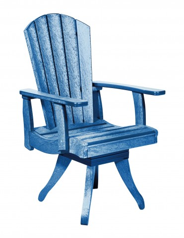 Generations Blue Swivel Dining Arm Chair