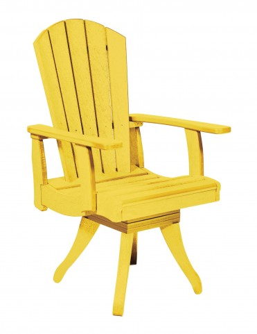 Generations Yellow Swivel Dining Arm Chair