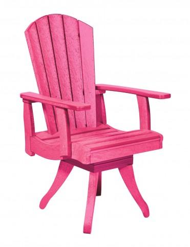 Generations Fuschia Swivel Dining Arm Chair