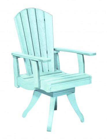 Generations Aqua Swivel Dining Arm Chair
