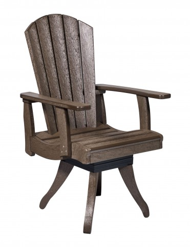 Generations Chocolate Swivel Dining Arm Chair