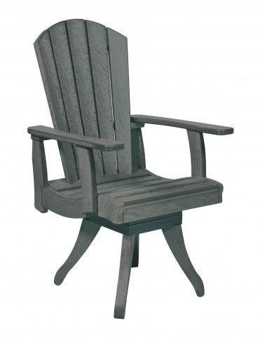 Generations Slate Swivel Dining Arm Chair