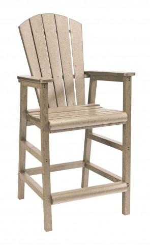 Generations Beige Adirondack Dining Pub Arm Chair