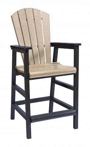 Generations Beige/Black Adirondack Dining Pub Arm Chair