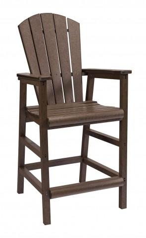 Generations Chocolate Adirondack Dining Pub Arm Chair