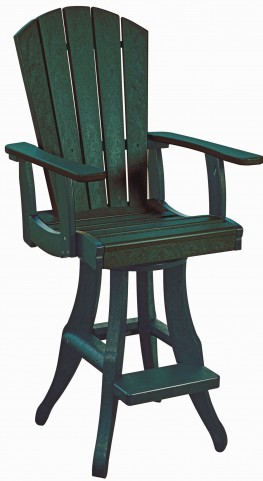 Generations Green Swivel Pub Arm Chair