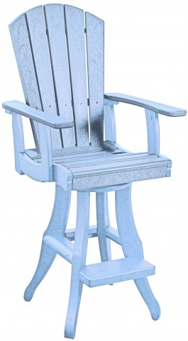 Generations Sky Blue Swivel Pub Arm Chair