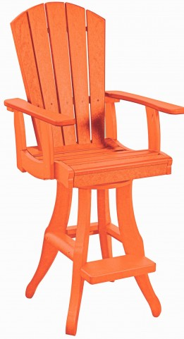 Generations Orange Swivel Pub Arm Chair