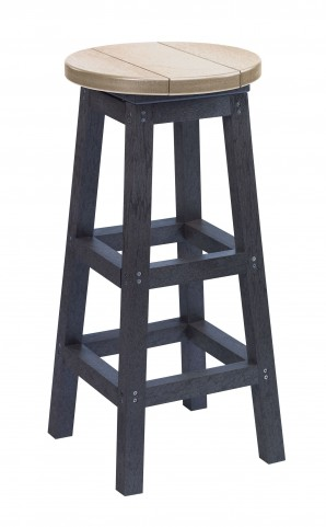 Generation Beige/Black Swivel Bar Stool