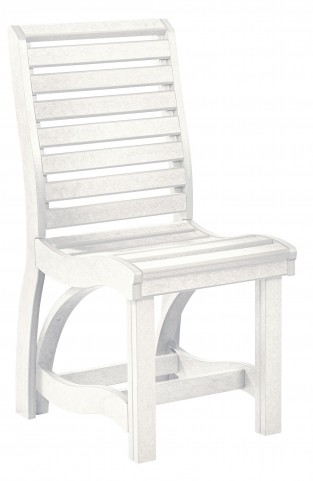 St Tropez White Dining Side Chair