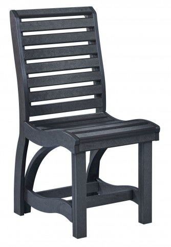 St Tropez Black Dining Side Chair