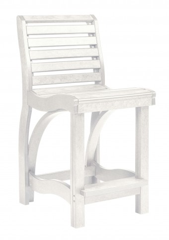St Tropez White Counter Chair