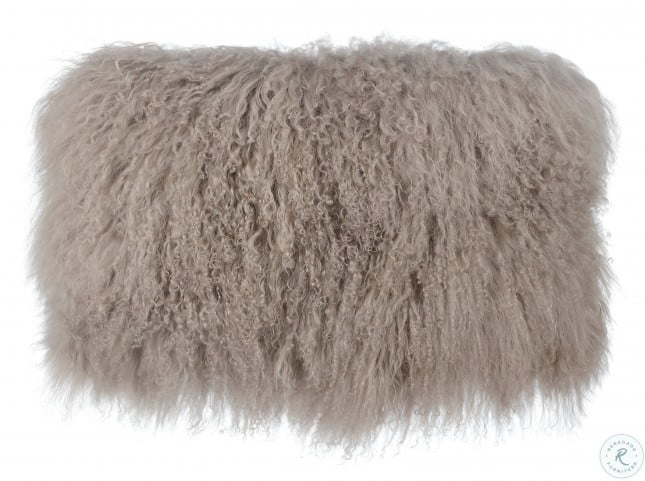 Tibetan Sheep Sandy Brown Large Pillow