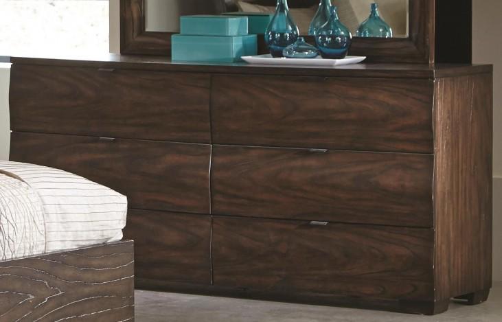 Calabasas Dark Brown 6 Drawer Dresser