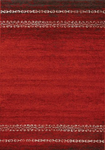 Camino Red/Brown Distressed Large Rug