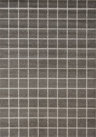 Camino Charcoal/Cream Tile Medium Rug